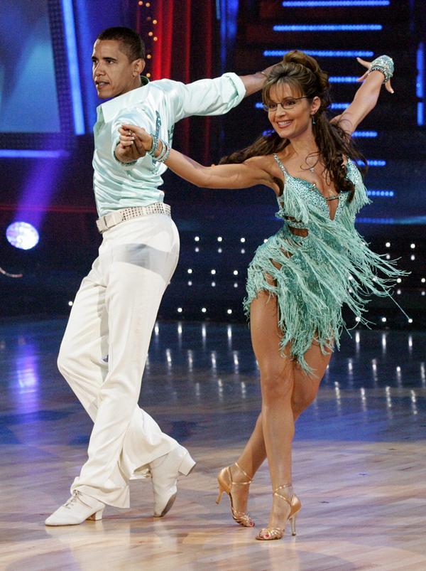 Obama Palin dance