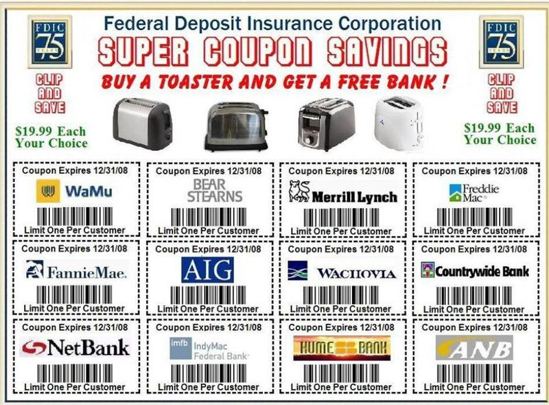 Federal Deposit savings coupons