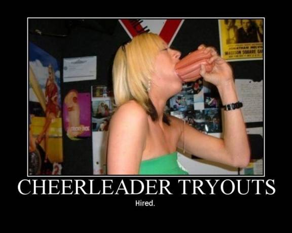 Cheerleader tryouts sausage