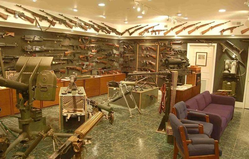 Charlton Heston's gun collection