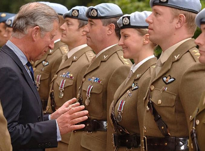 Prince Charles boobs soldier
