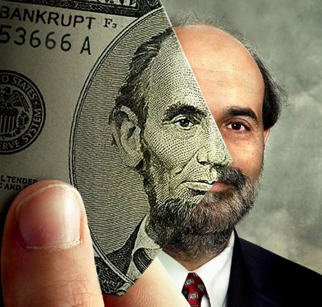 Bernanke Dollar Bill Lincoln