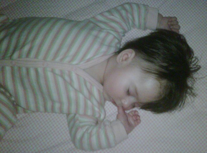 4 month old Sophia sleeping