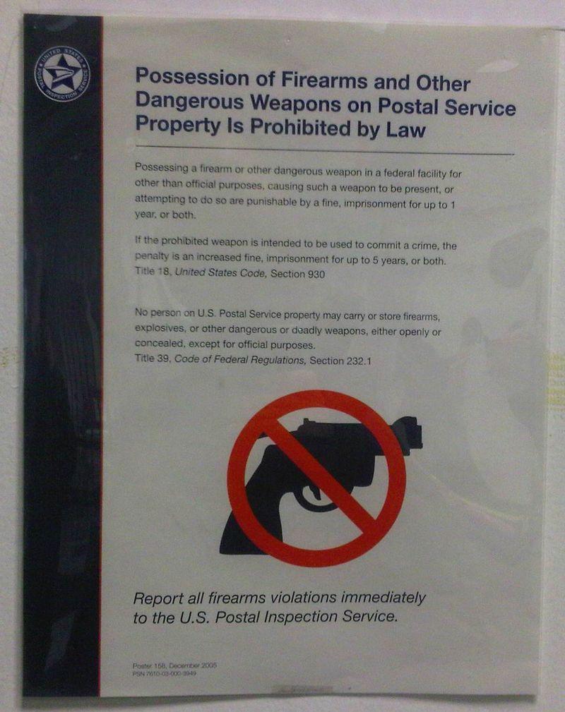 Postal gun sign