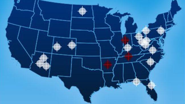 Palin target practice map