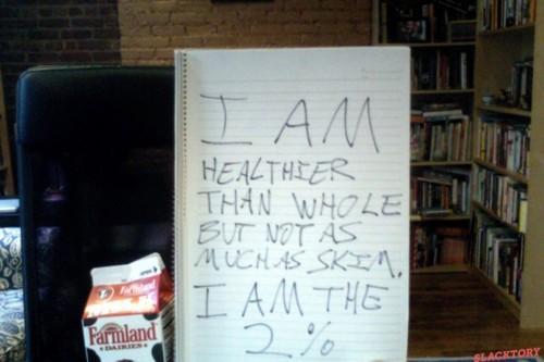 I am 2 percent