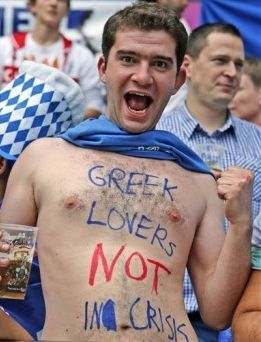 Greek football fan Euro