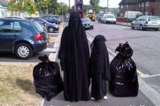 Burka garbage bags