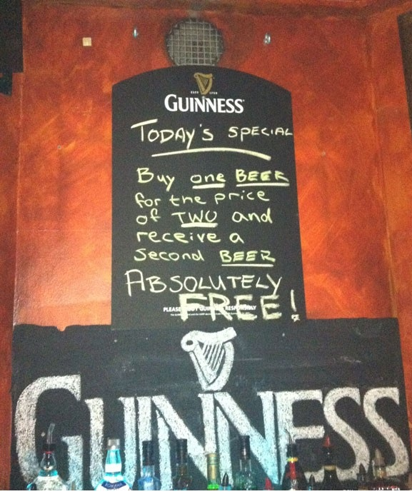 Guiness pub signs