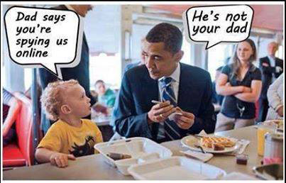 NSA Obama cartoon