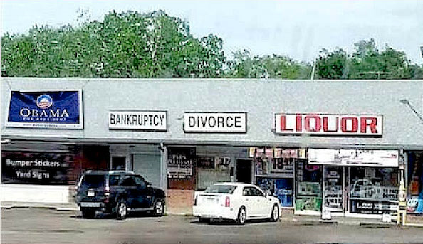 Obama liquor divorce bankruptcy