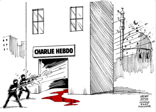Hebdo terrorist cartoon