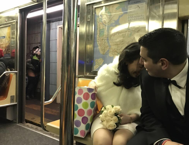 True love on the NYC subway