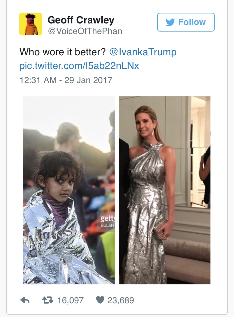 Ivanka and the refugee