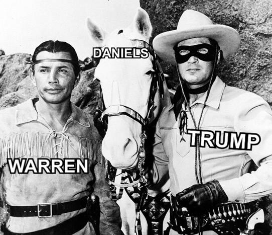 Pocahontis Warren Daniels Trump Tiny