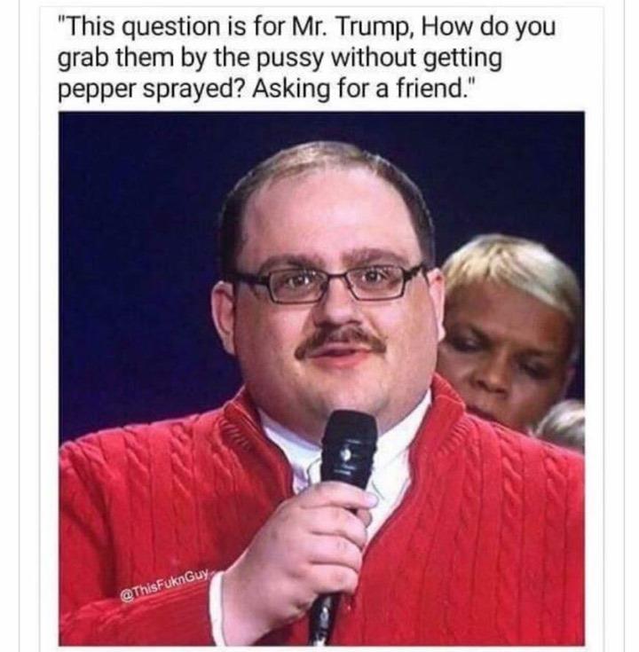 Pepper spray Trump